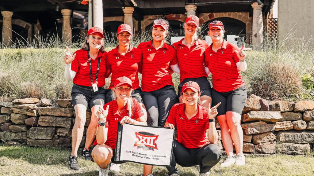 Texas Tech Women's Golf team during the big 12 for golf