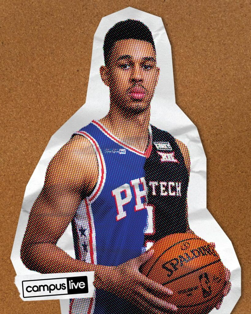 graphic of Zhaire Smith holding a basketball