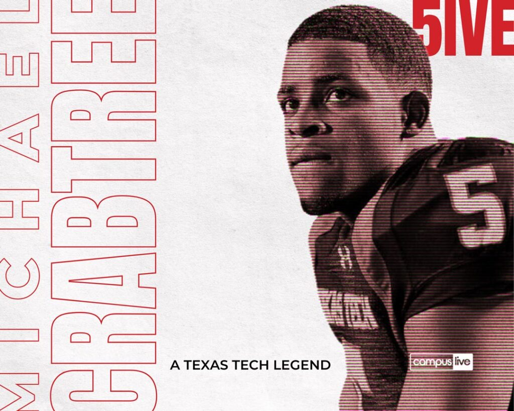 Graphic of Texas Tech great Michael Crabtree